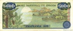 5000 Francs RWANDA  1978 P.15a pr.SUP