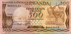 500 Francs RWANDA  1981 P.16a TTB