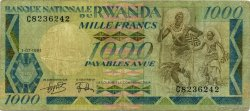 1000 Francs RWANDA  1981 P.17a B à TB
