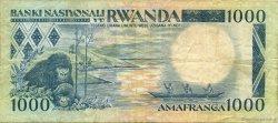1000 Francs RWANDA  1981 P.17a TB+