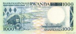 1000 Francs RWANDA  1981 P.17a pr.NEUF