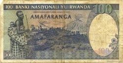 100 Francs RWANDA  1989 P.19 TB