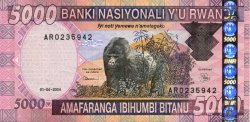 5000 Francs RWANDA  2004 P.32var TTB+