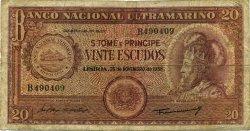 20 Escudos SAINT THOMAS et PRINCE  1958 P.036a B+