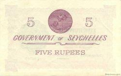5 Rupees SEYCHELLES  1954 P.11a SUP à SPL