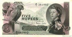 5 Rupees SEYCHELLES  1968 P.14a pr.NEUF