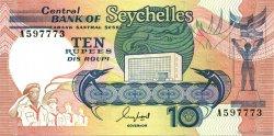 10 Rupees SEYCHELLES  1989 P.32 SPL
