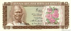 50 Cents SIERRA LEONE  1972 P.04a NEUF