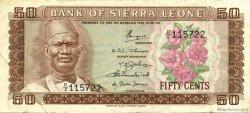 50 Cents SIERRA LEONE  1972 P.04a TTB