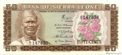 50 Cents SIERRA LEONE  1972 P.04a SPL