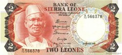 2 Leones SIERRA LEONE  1984 P.06g NEUF