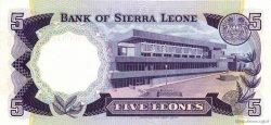 5 Leones SIERRA LEONE  1975 P.07a NEUF