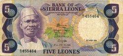 5 Leones SIERRA LEONE  1984 P.07e TB+