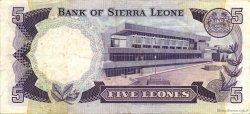 5 Leones SIERRA LEONE  1984 P.07f TTB