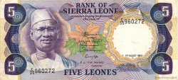 5 Leones SIERRA LEONE  1985 P.07g TTB+