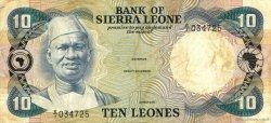 10 Leones SIERRA LEONE  1980 P.08a TB
