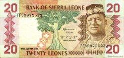 20 Leones SIERRA LEONE  1984 P.14b TTB+