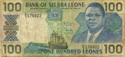 100 Leones SIERRA LEONE  1988 P.18a B+