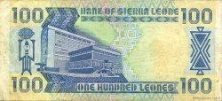 100 Leones SIERRA LEONE  1989 P.18b TTB