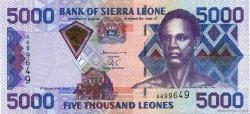 5000 Leones SIERRA LEONE  2002 P.28 SUP