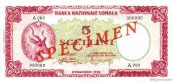 5 Scellini SOMALIE  1962 P.01s NEUF