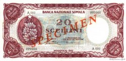 20 Scellini SOMALIE  1962 P.03s pr.NEUF