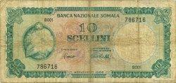 10 Scellini SOMALIE  1966 P.06a B+