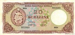 20 Scellini SOMALIE  1971 P.15a SPL
