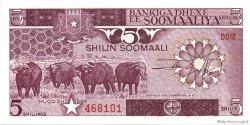 5 Shilin SOMALIE  1986 P.31b pr.NEUF