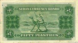 50 piastres SOUDAN  1956 P.02B TTB+