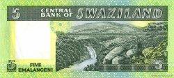 5 Emalangeni SWAZILAND  1984 P.09b NEUF