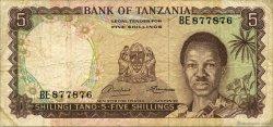 5 Shillings TANZANIE  1966 P.01A TB