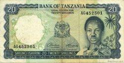20 Shillings TANZANIE  1966 P.03a TB