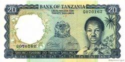 20 Shillings TANZANIE  1966 P.03a SUP+