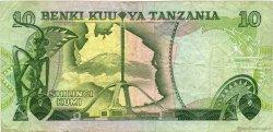 10 Shilingi TANZANIE  1978 P.06a TB