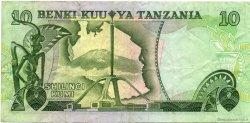 10 Shilingi TANZANIE  1978 P.06c TTB+