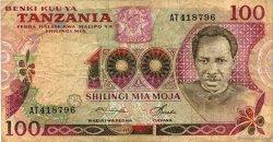 100 Shilingi TANZANIE  1977 P.08a pr.TB