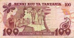 100 Shilingi TANZANIE  1977 P.08c pr.TTB