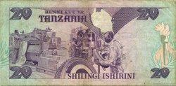 20 Shilingi TANZANIE  1986 P.12 TTB