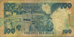 100 Shilingi TANZANIE  1986 P.14a TB