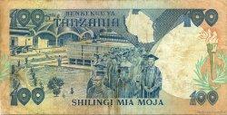 100 Shilingi TANZANIE  1986 P.14b TTB