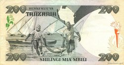 200 Shilingi TANZANIE  1986 P.18b SUP