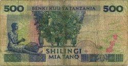 500 Shilingi TANZANIE  1989 P.21c B