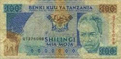 100 Shilingi TANZANIE  1993 P.24 B+