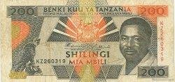200 Shilingi TANZANIE  1993 P.25a TB+