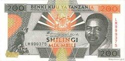 200 Shilingi TANZANIE  1993 P.25a SUP