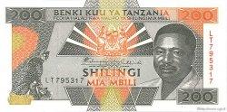 200 Shilingi TANZANIE  1993 P.25a NEUF