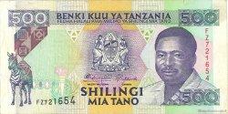500 Shilingi TANZANIE  1993 P.26a TTB