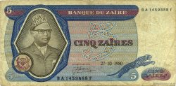 5 Zaïres ZAÏRE  1980 P.22b B+