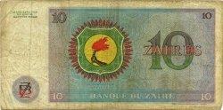 10 Zaïres ZAÏRE  1974 P.23a TB